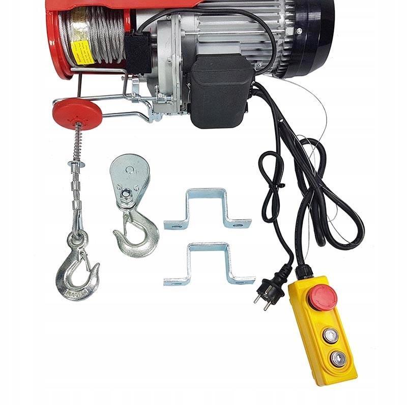 Лебедка электрическая, строительная, мастерская MAR-POL 600кг 1200W