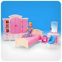 Мебель для кукол «Гардероб и спальня»