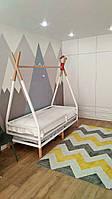 Детская Кроватка  из натурального дерева Эскимос с ножками