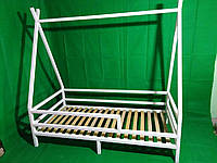 Детская Кроватка  из натурального дерева Эскимос с ножками Ясень, Без покраски, Больше 160*90