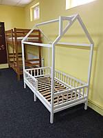 Детская Кроватка Домик с вертикальным бортиком и ножками, фото 1