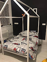 Деревянная детская кроватка Домик без бортиков, фото 1