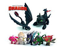 Набор фигурок Как приручить Дракона 7 шт 5-7 см Игрушки Викинги Отличное качество !