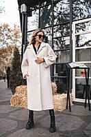 Женское длинное пальто букле осень- весна