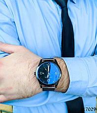 Часы мужские в стиле Louis Vuitton. Мужские наручные часы черные. Часы с черным циферблатом Годинник чоловічий, фото 2