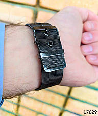Часы мужские в стиле Louis Vuitton. Мужские наручные часы черные. Часы с черным циферблатом Годинник чоловічий, фото 3