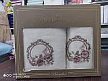 Набор махровых полотенец бамбук 50*90 и 70*140 TM PUPILLA  Турция Розовый 4, фото 2
