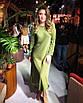 Минималистичное шелковое платье длинное миди с рукавами свободное яркое фуксия малиновое, фото 4
