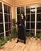 Минималистичное шелковое платье длинное миди с рукавами свободное яркое фуксия малиновое, фото 8