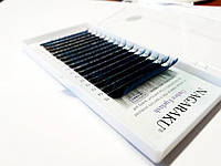 Ресницы омбре Nagaraku Mix Синий 0.07 7-15мм