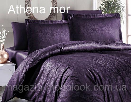 Постельное белье First choice Satin Жаккард Athena mor, фото 2