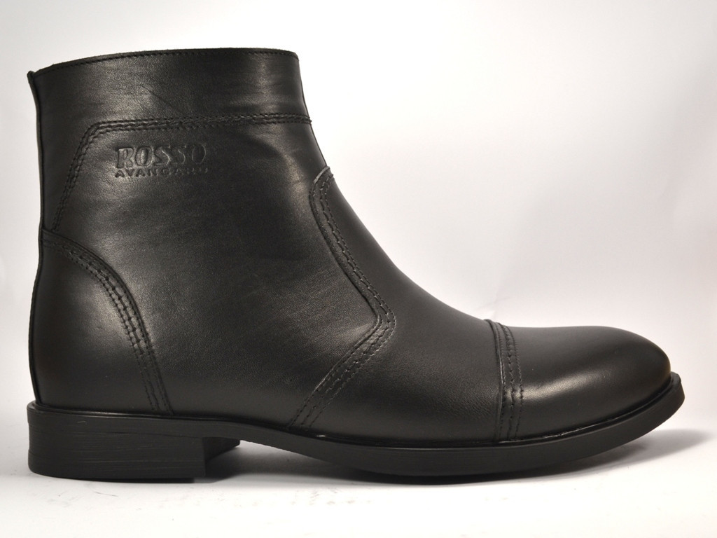 Акция! Челси зимние мужские ботинки классические на молнии Rosso Avangard Danni Classical Black черные