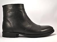 Акция! Челси зимние мужские ботинки классические на молнии Rosso Avangard Danni Classical Black черные, фото 1