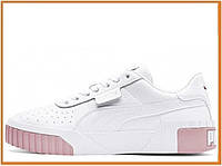 Женские кроссовки Puma Wmns Cali White Pink (пума кали, розовые / белые / пудра)