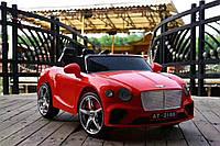 Електромобіль (Электромобиль) T-7644 EVA RED(1шт) легкована Bluetooth 2.4G Р/К 2*6V4.5AH мотор 2*25W з MP3 1