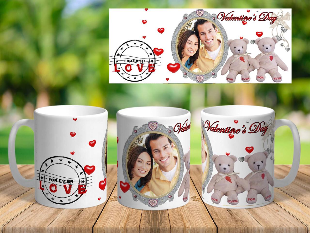 "Подарочная чашка для влюблённых "" Valentines Day"""