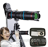 Мощный монокуляр Premium Lens 4K HD 22x с креплением для телефона. Подзорная труба телескоп для наблюдения