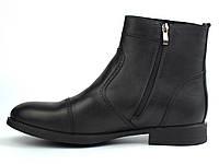 Акція Останні 43 і 45 розмір челсі чоловічі зимові черевики шкіряні класичні, фото 1