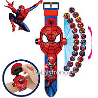 Проекционные детские часы Человек Паук  - 24 вида изображения героев .Projector Watch. Отличный Подарок !