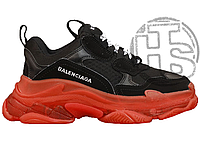 Женские кроссовки Balenciaga Triple S Clear Sole Black/Red 533882W09O11000