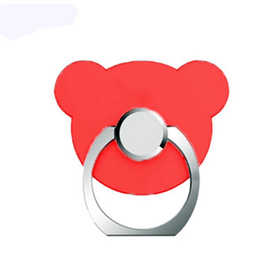 Кольцо-держатель Медведь для смартфона / планшета Red