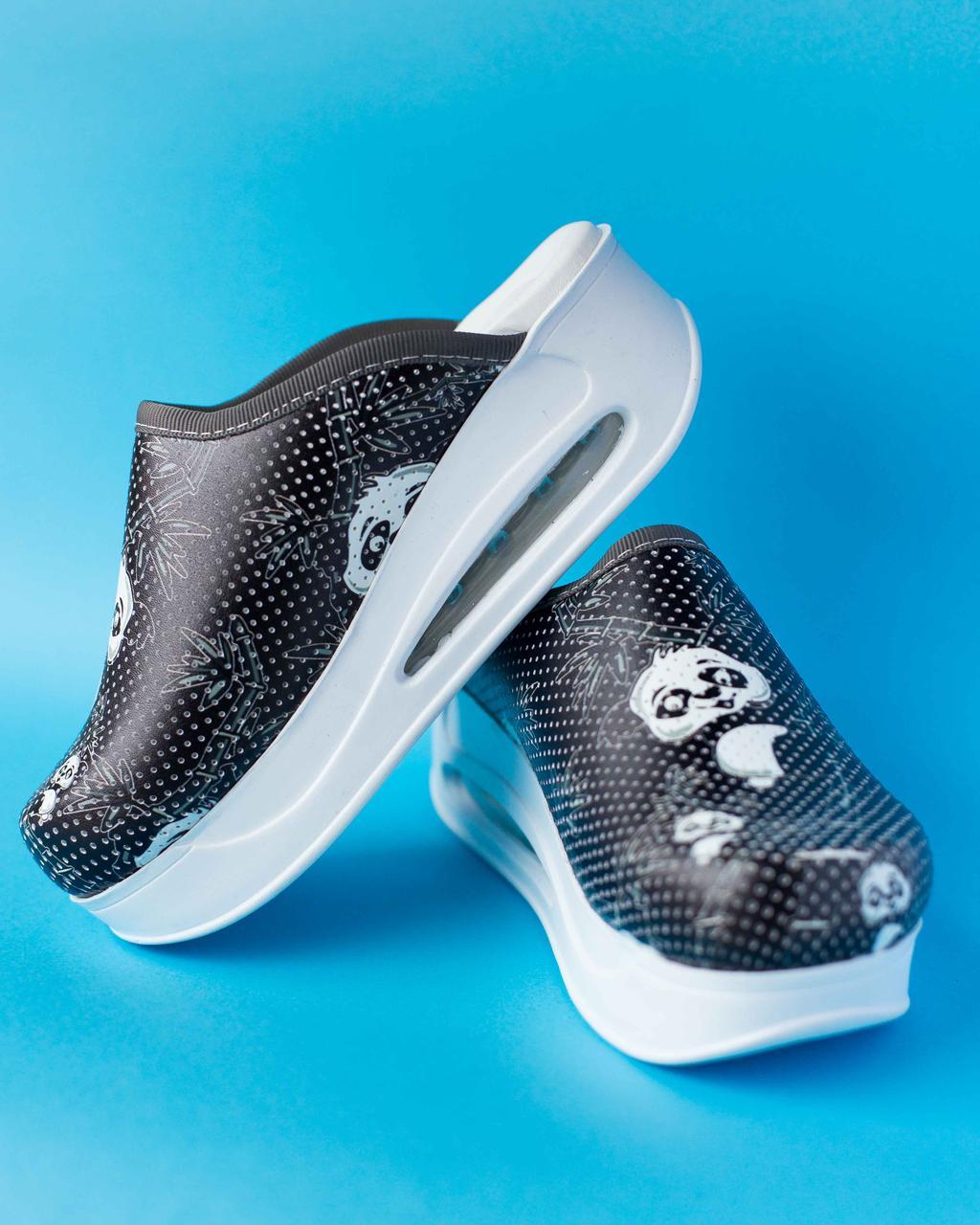 """Медична взуття сабо """"Panda"""" з підошвою AirMax (з чорною / білою підошвою)"""