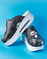 """Медична взуття сабо """"Panda"""" з підошвою AirMax (з чорною / білою підошвою), фото 1"""