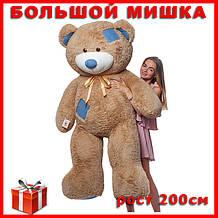 Большой плюшевый медведь лате. Плюшевый Мишка с латками 200 см. Большая мягкая игрушка.