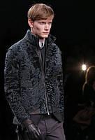 Мужская куртка из свакары, воротник стойка