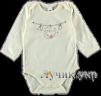 """Боди-футболка для малышей. Размер: 74. молочный. TM """"ФЛАМИНГО ТЕКСТИЛЬ"""" 568-220/1. Украина."""