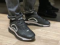 Nike air max 720 мужские чёрные кроссовки, мужские чёрные найки, размеры 41-46
