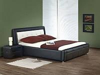 Кровать двухспальная Samanta / Саманта Halmar черно-белый