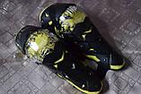 Наколенники шарнирные, защита колен и голени GHOST RACING (желтая вставка). Универсальный размер., фото 3