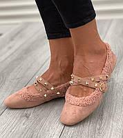 Туфли женские 6 пар в ящике розового цвета 36-40, фото 2