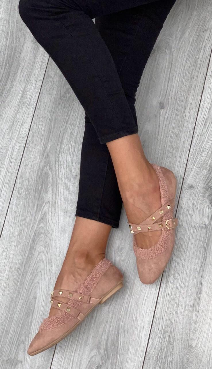 Туфли женские 6 пар в ящике розового цвета 36-40