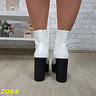Демисезонные женские белые ботинки, эко кожа, фото 5