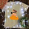 Мужская футболка с принтом - Олень в мандаринах