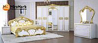 Спальня Ева / Eva MiroMark белый глянец - золото