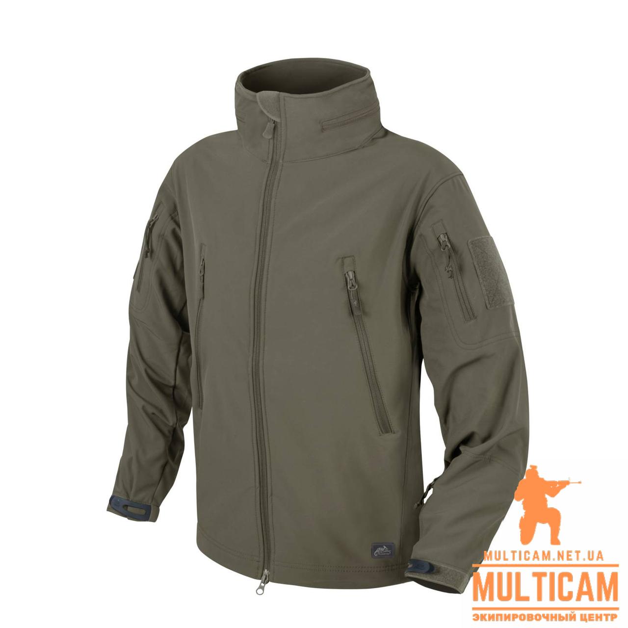 Куртка Helikon-Tex® GUNFIGHTER Jacket - Shark Skin Windblocker - Taiga Green
