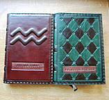 Ежедневник кожаный винтажный именной ручной работы формат а5, фото 5