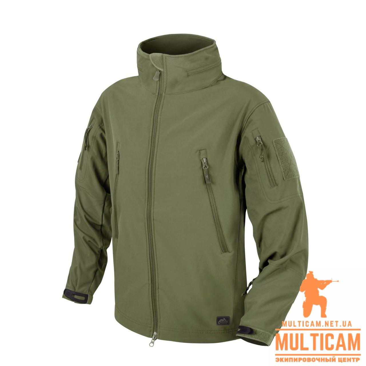 Куртка Helikon-Tex® GUNFIGHTER Jacket - Shark Skin Windblocker - Olive Green