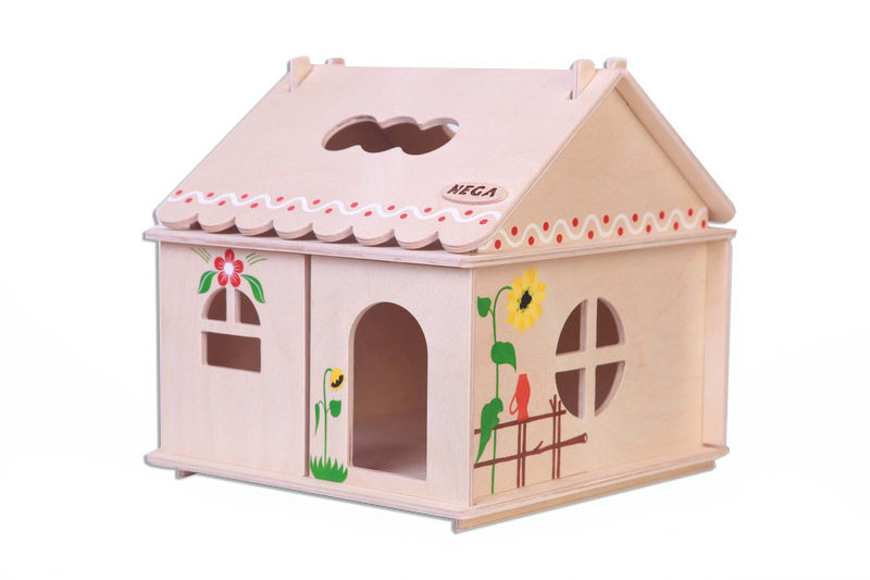 Кукольный домик Hega с росписью 1эт. (039)