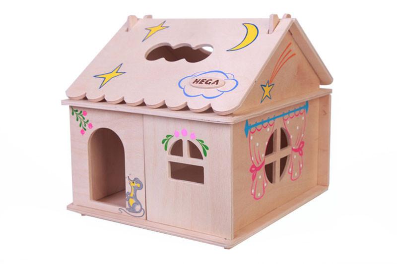 Кукольный домик  Hega  с росписью 1эт. (039A)