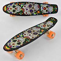 Детский Скейт Пенни борд Р 15909 (8) Best Board, доска=55см, колёса PU, СВЕТЯТСЯ, d=6см