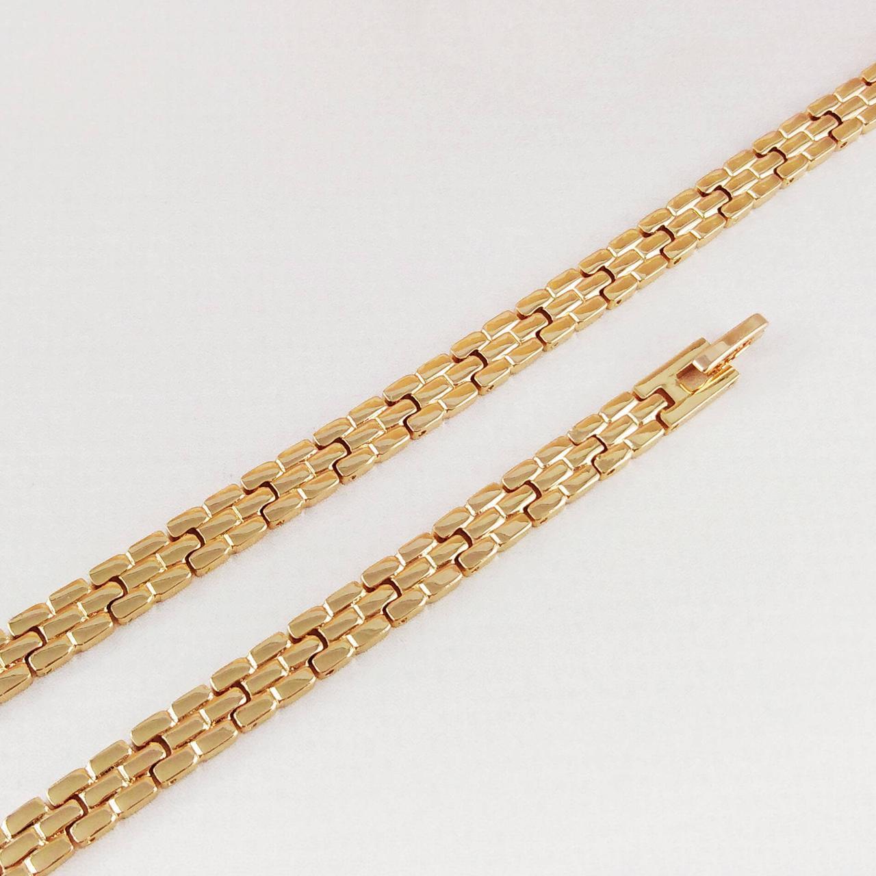 Браслет Xuping Jewelry 19,5 см х 6 мм Браслетное плетение медицинское золото позолота 18К А/В 4828