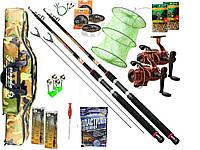 Рыболовный набор 12 в 1 Спиннинг Fat Cat(2 шт)+ катушка Кобра (2 шт.) +Подарок! 3.0 м