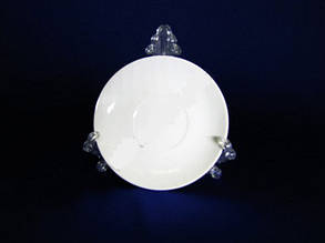 Блюдце отдельное белое 4,75 Saucer-Bell Надежда 11.5 см керамика