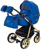 Дитяча коляска 2в1 Adamex Hybryd Plus Polar (Gold) Y220А Темно-синій перламутр, фото 1