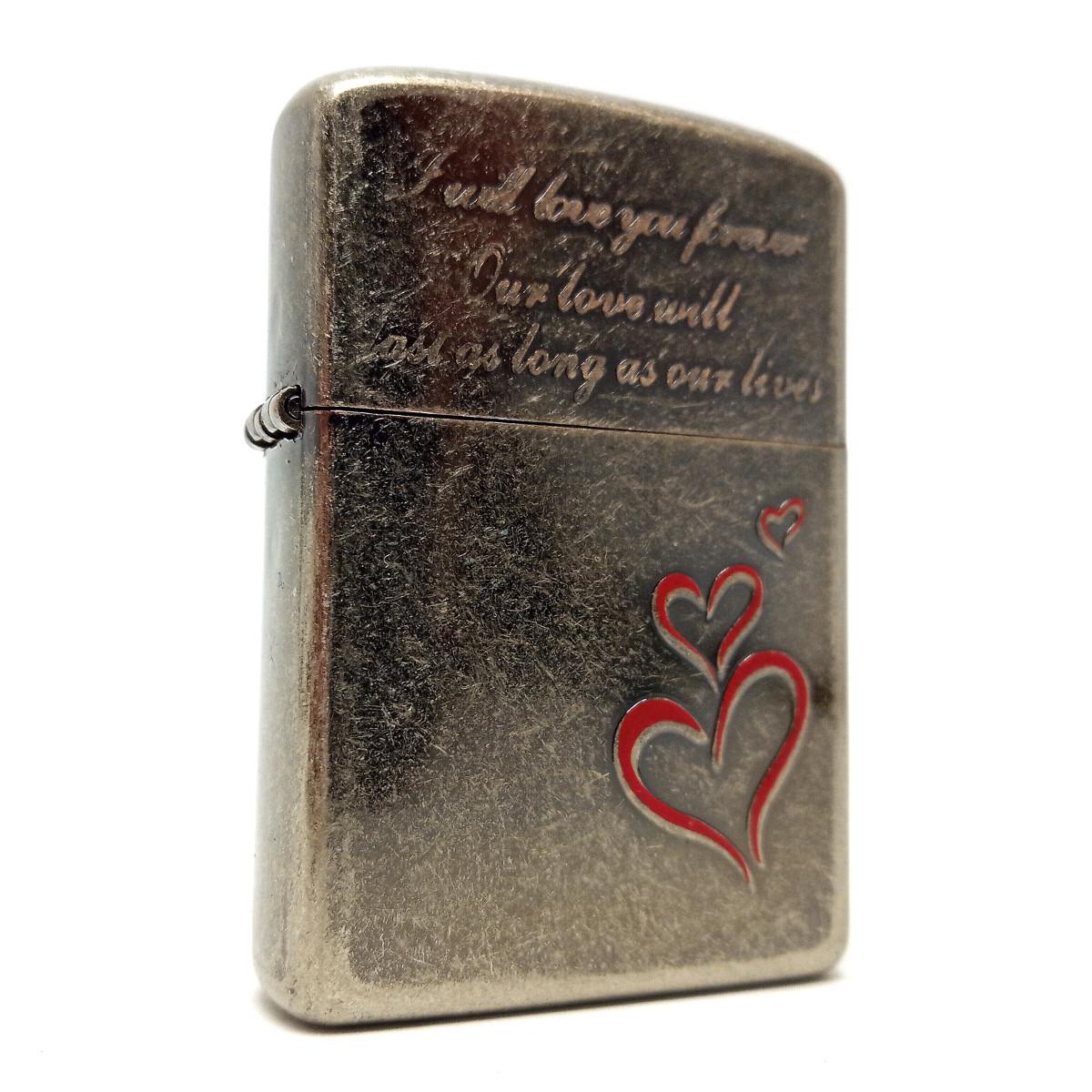 Запальничка бензинова «Вічна любов» вінтажне срібло