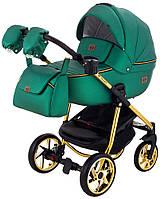 Дитяча коляска 2в1 Adamex Hybryd Plus Polar (Gold) Y216А Зелений перламутр, фото 1
